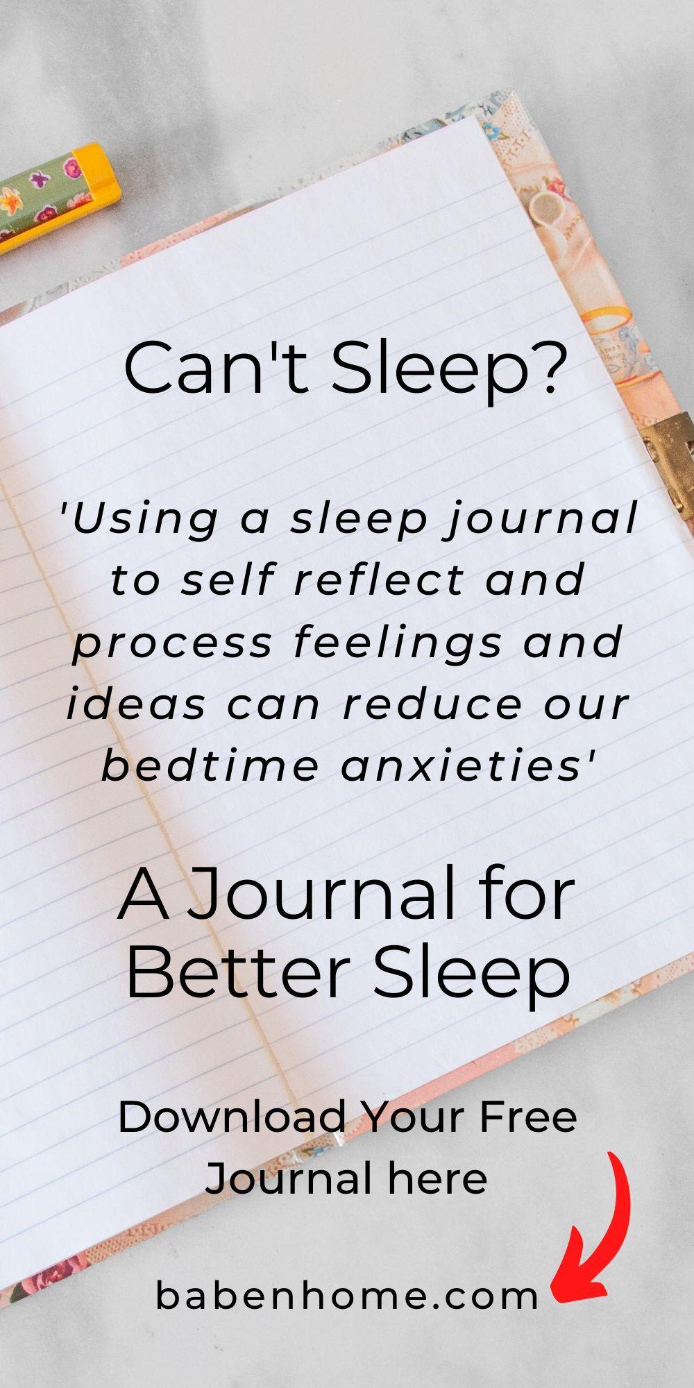 Sleep Journal eBook – Babe 'n Home