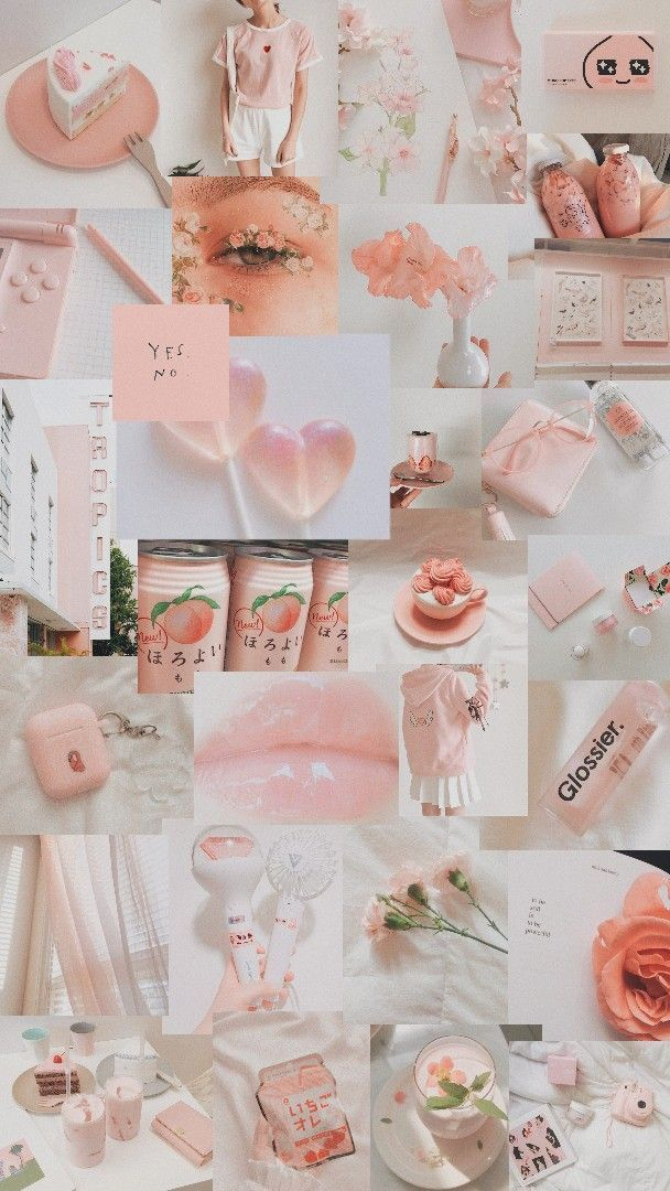 wallpaper peach Peach wallpaper, Aesthetic collage