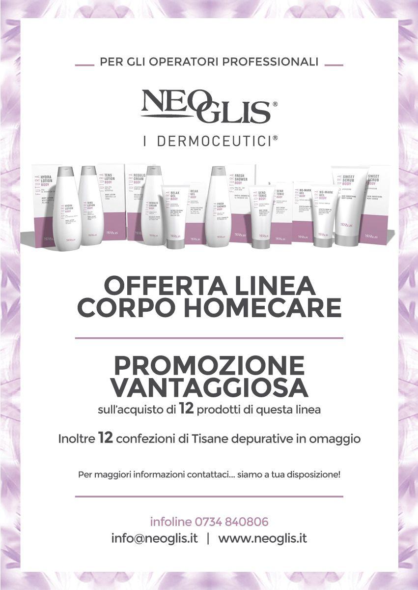 Dal viso al corpo ecco per voi una nuova offerta sulla #LineaCorpo #Homecare!!!