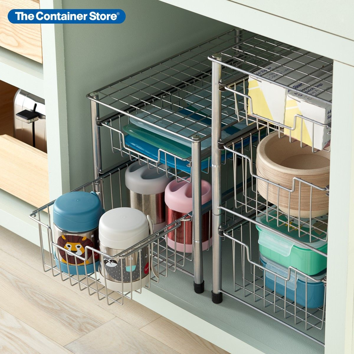 Wire Pull Out Cabinet Organizers In 2021 Cabinets Organization Storage Spaces Cabinet