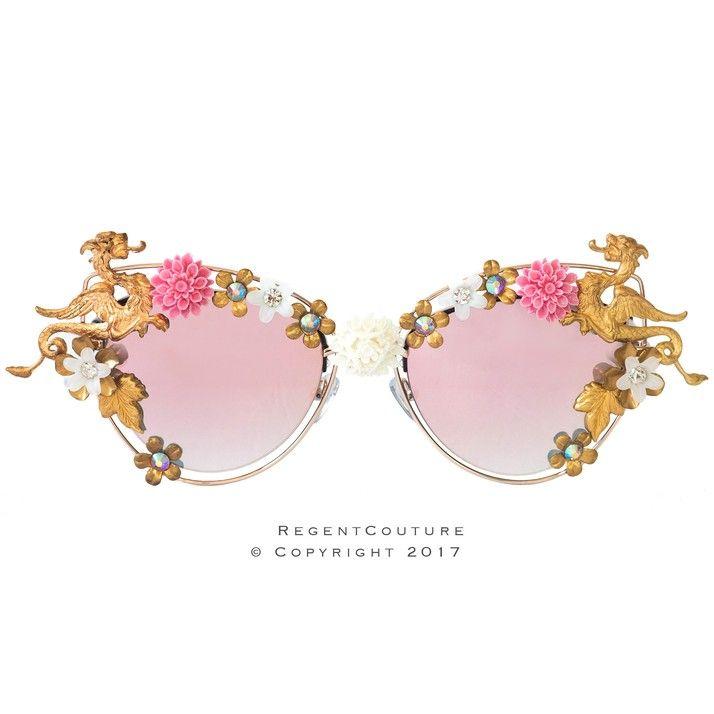 The Dragon's Dance Pink Chrome Sunglasses