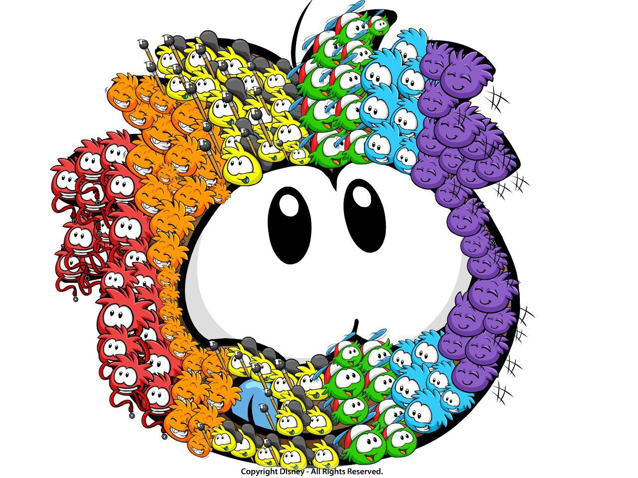 rainbow puffle! by epicmickey2002 | Create Art | Disney