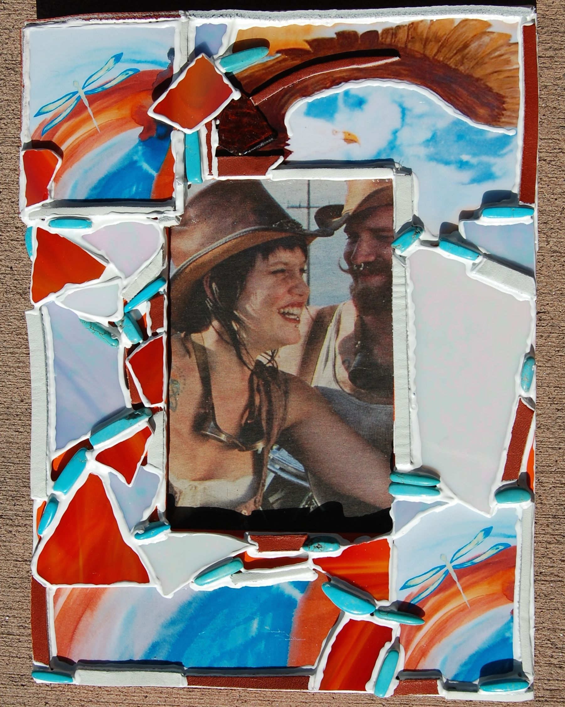 Collage frame by Julie Wishmeyer with Lakota artist Sandy Swallow\'s ...