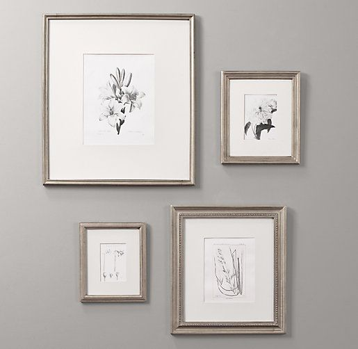 Rh Baby Child S Antiqued Pewter Wood Frames Our Handcrafted Pewter Frames Differ In Size Shape How To Antique Wood Wood Gallery Frames Gallery Wall Nursery