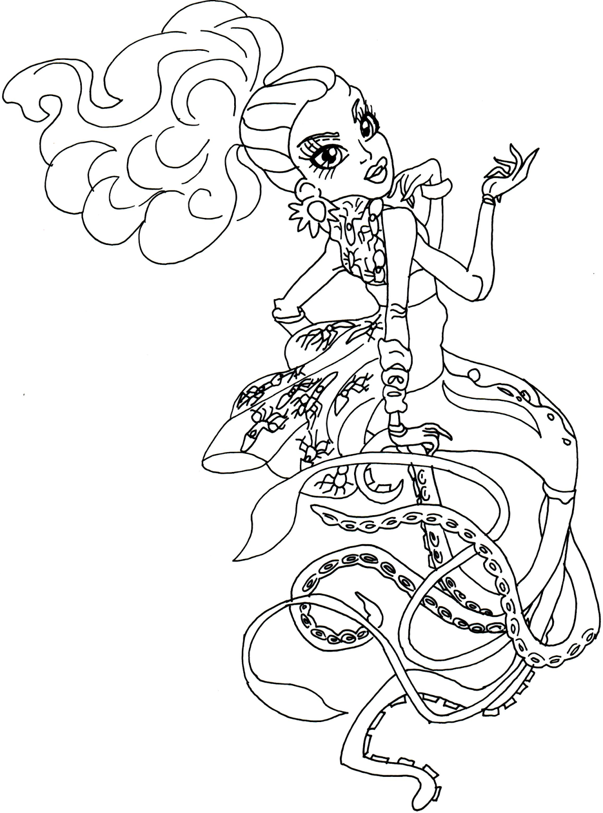 Monster High Scary Tales Coloring Pages | www.topsimages.com