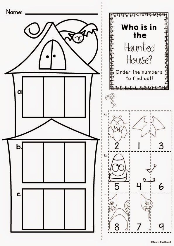 haunted house number order worksheet freebie pinterest haunted houses. Black Bedroom Furniture Sets. Home Design Ideas