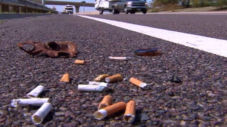 There S Less Trash Littering Freeways In The Phoenix Area These Days According To New Data Collected By The Arizona Department Of Transpo Freeway Areas Litter