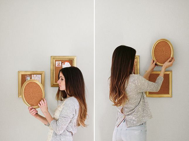 DIY Mini Gold-Framed Corkboards Tutorial | DIY | Pinterest ...