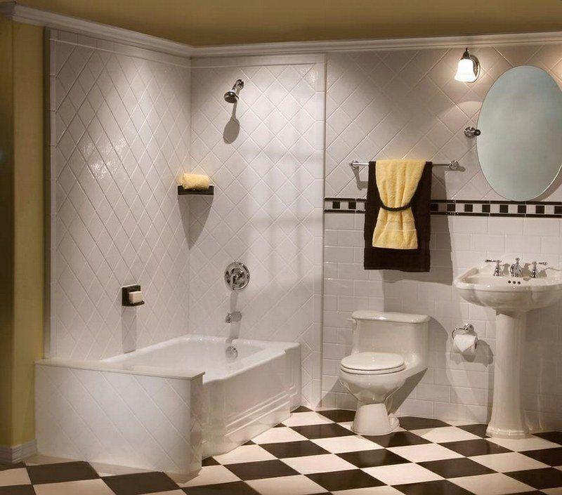 Salle de bain rétro - carrelage, meubles et déco en 55 photos