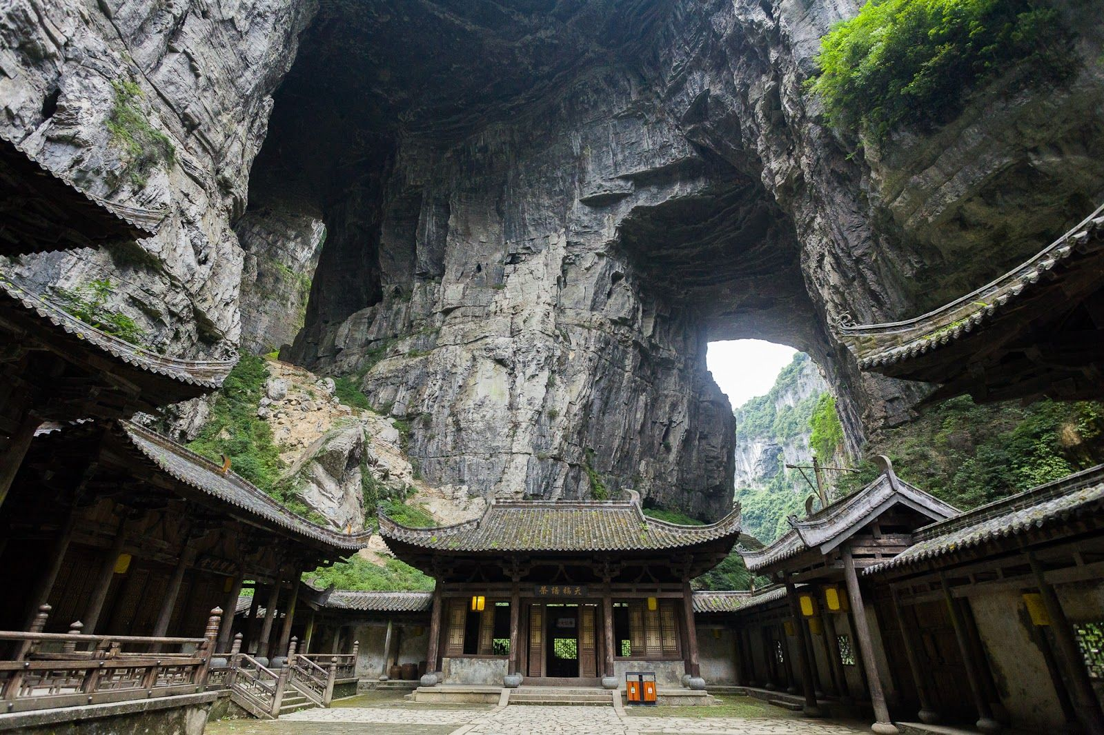 The Three Natural Bridges are a series of natural limestone bridges located in Xiannüshan Town, Wulong County, Chongqing, China.