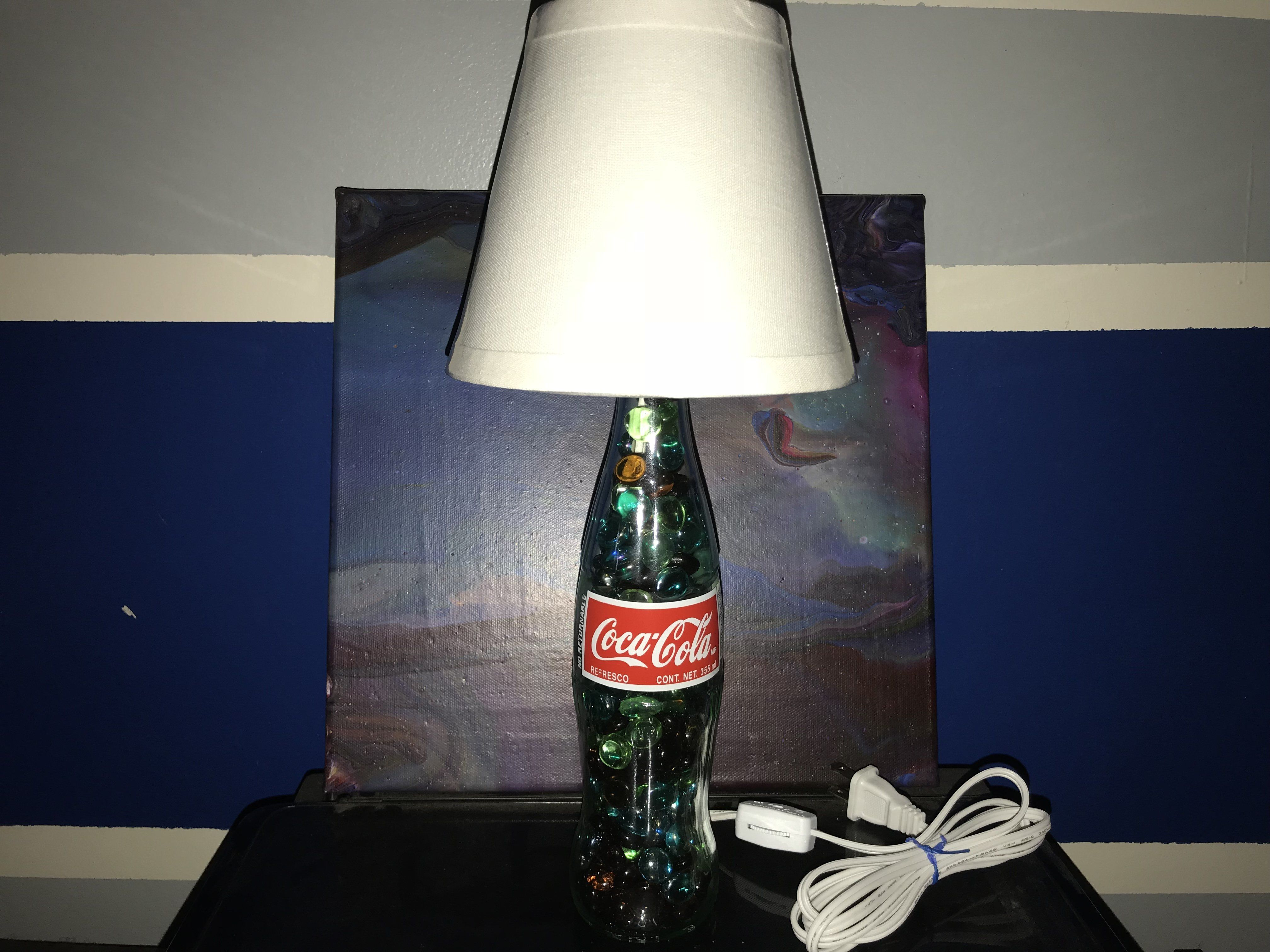 Glass soda bottle lamps soda bottles and bottle glass soda bottle lamp arubaitofo Image collections