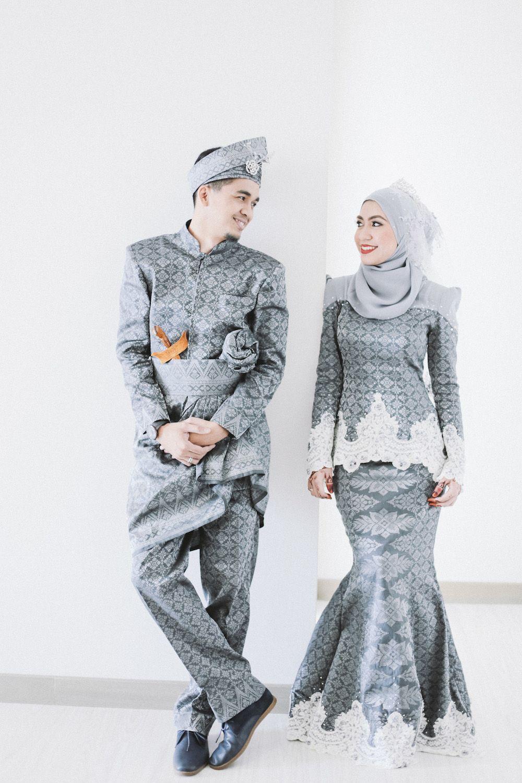 Go for a modern grey songket bridal design pinterest wedding