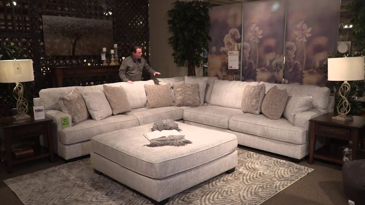Rawcliffe Parchment 4 Piece Sectional In 2020 Ashley Furniture Living Room Large Sectional Sofa Oversized Sectional Sofa