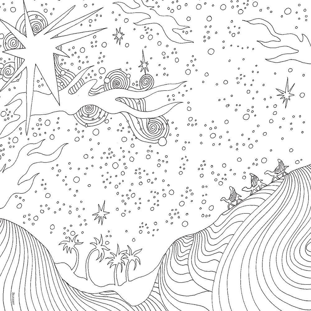 «Магия Рождества. Медитативная раскраска для взрослых ...