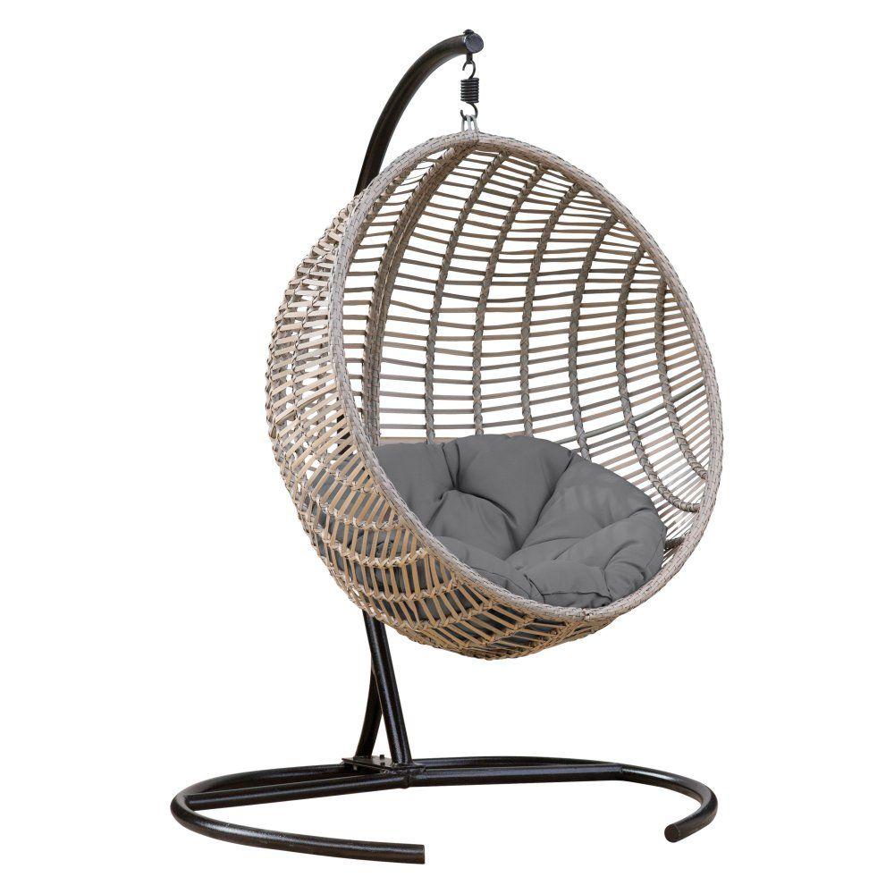 Belham Living Resin Wicker Kambree Rib Hanging Egg Chair