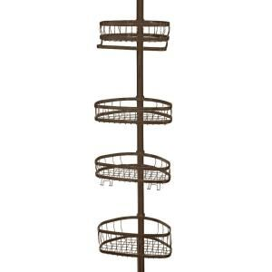 Home Depot Shower Caddy Alluring Interdesign York Tension Pole Shower Caddy In Bronze  Laundry Rooms 2018