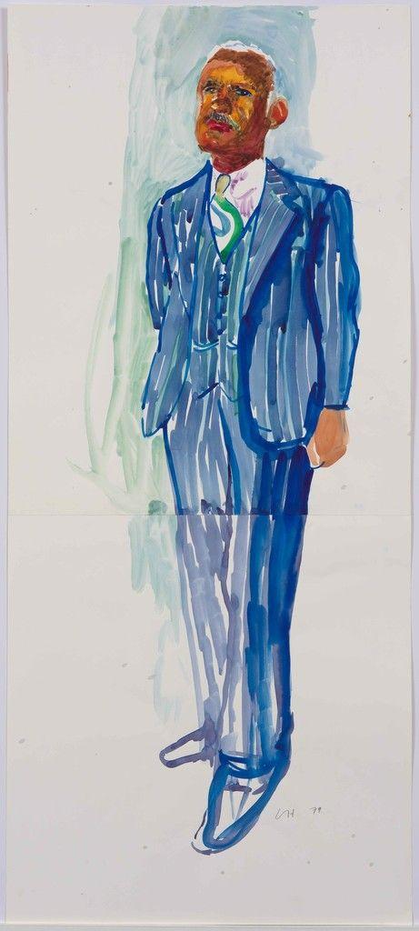David Hockney Study For Dr Banks Portrait 1979 Debra Force Fine Art David Hockney Paintings David Hockney Art David Hockney