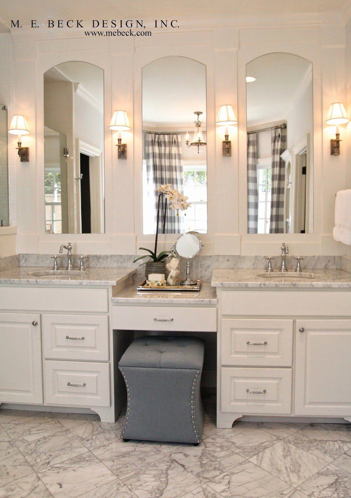 Bathroom Vanity Mirror Ideas Fresh Live Beautifully Center Hall Colonial In 2020 Double Vanity Bathroom Bathroom Remodel Master Master Bath Vanity