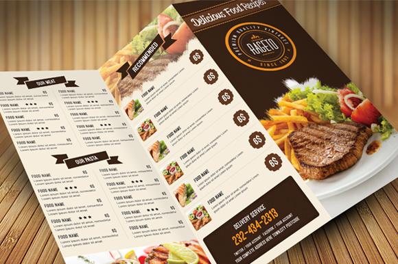 Designing the takeaway menu
