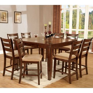 Perfect For Furniture Of America Belvedere Antique Oak 9 Piece Counter. Roslyn 9  Piece Counter Height Dining Set