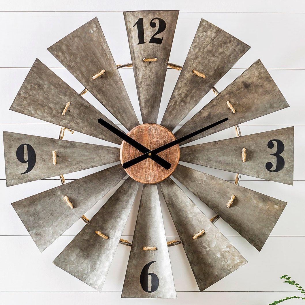 Farmland Windmill Wall Clock Windmill Wall Clock Unique Home Decor Windmill Clock