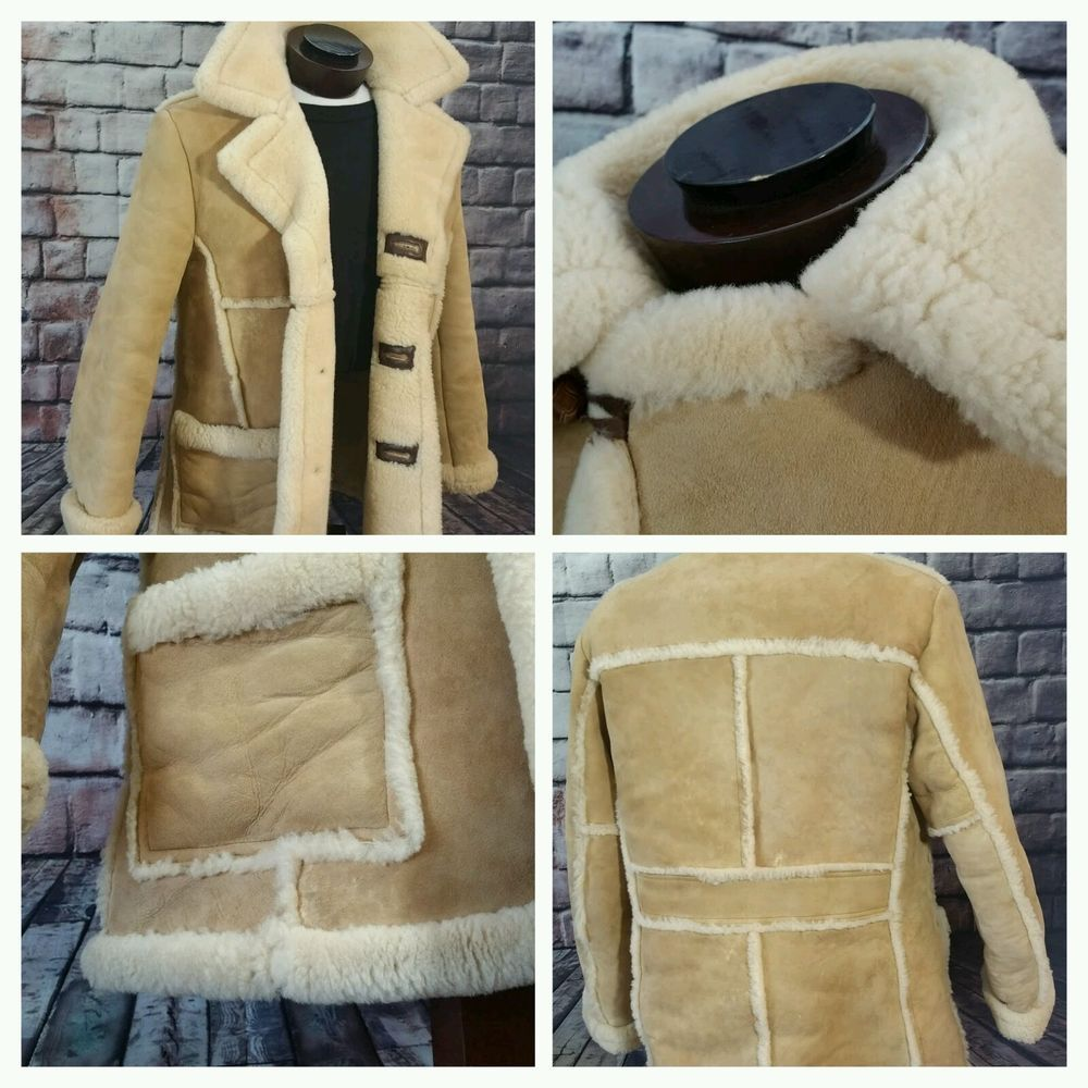 Vintage Large Mens Shearling 3 btn Schott NYC USA Heavy Sheepskin ...
