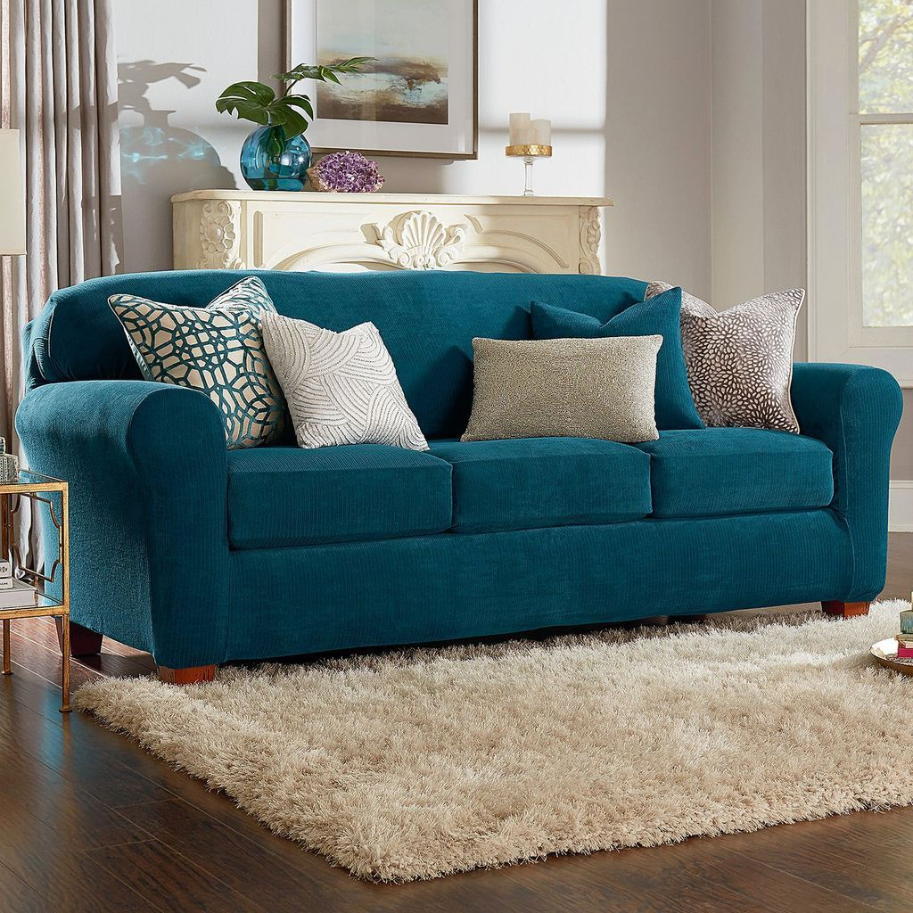 Ultimate Stretch Chenille Four Piece Sofa Slipcover Form