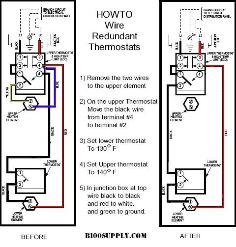 Electric Hot Water Heater Diagram | Hot water heater ...