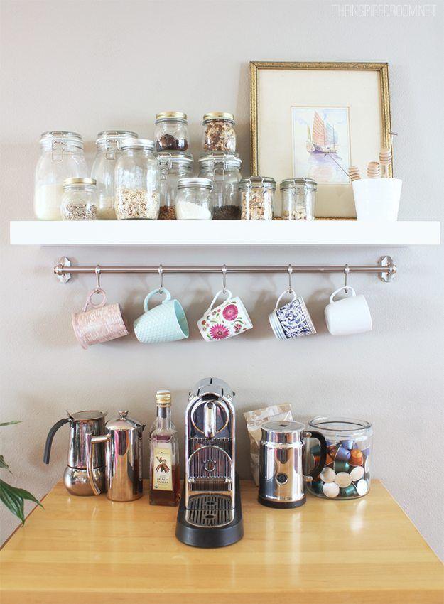 Coffee Mug Storage Ideas Home Coffee Stations Coffee Station Kitchen Diy Coffee Station