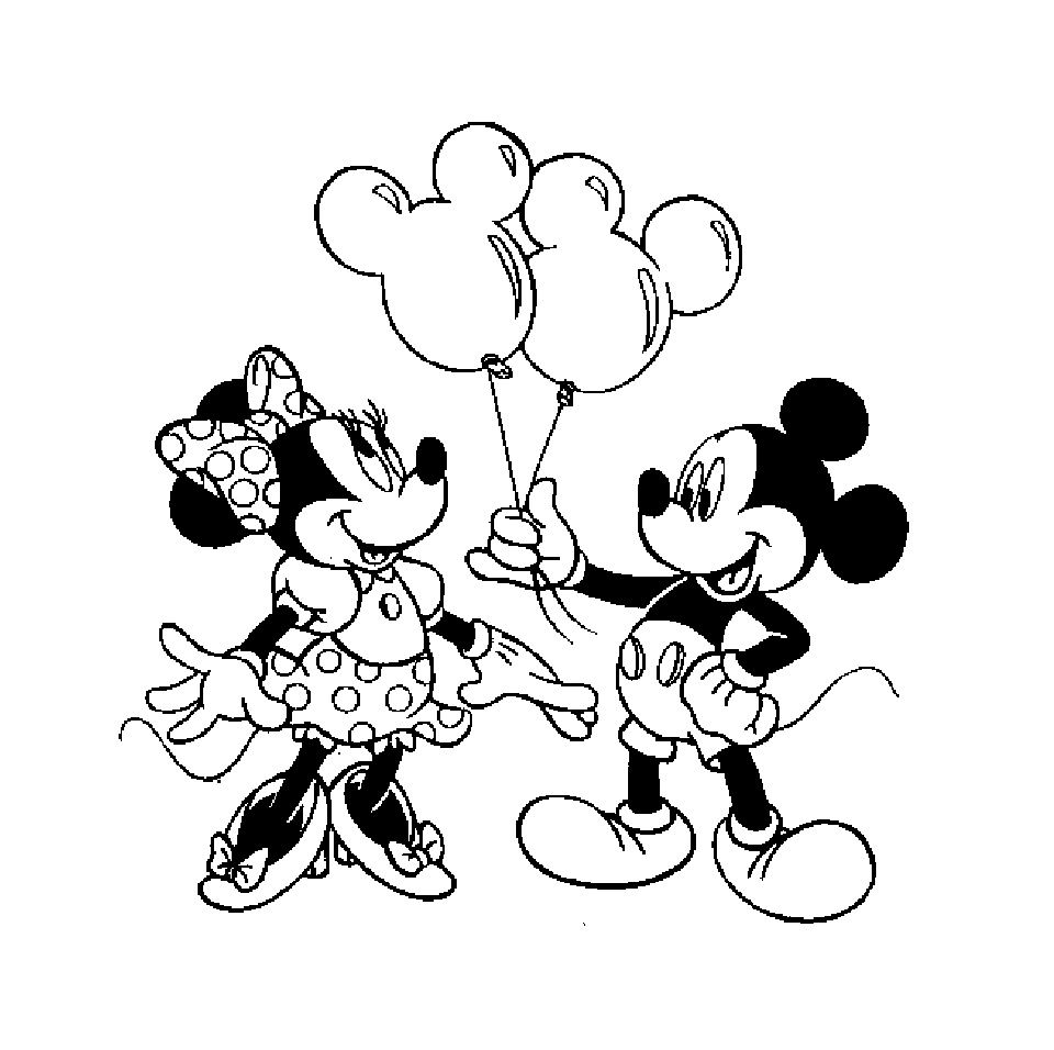 7 Paisible Coloriage Minnie Mickey Images  Coloriage mickey