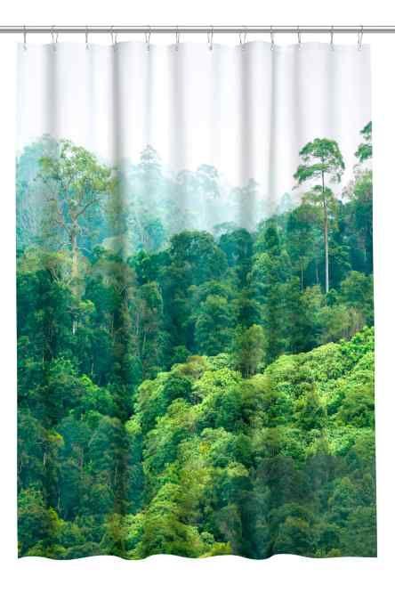 Printed Shower Curtain Curtains Bathroom Shower Curtains H M Home