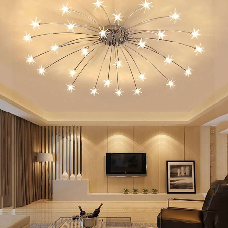 New chrome crystal ceiling light modern ceiling lamp ledg4 lamp beads ceiling lamp living room bedroom