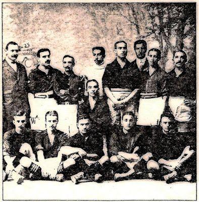 Equipos de fútbol: BARCELONA contra Español de Madrid 26/05/1910