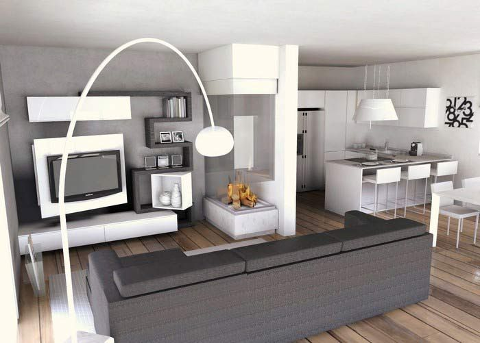 Come arredare una cucina soggiorno | Small house plans, Home ...