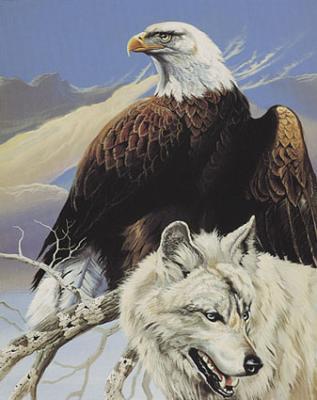 Denali Bear Attack Oiseau Peut Etre Vigilant Et Protecteur Envers Les Gentils Loups Art Sur Les Loups Animales Animaux Totems