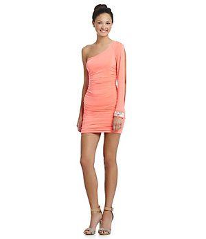 f77bc9e2b8356 Honey and Rosie One-Shoulder Beaded-Cuff Dress | Dillard's Mobile ...