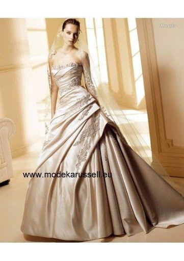 Prinzessin A Linie Hochzeitskleid Brautkleid 2015 | Brautmode ...