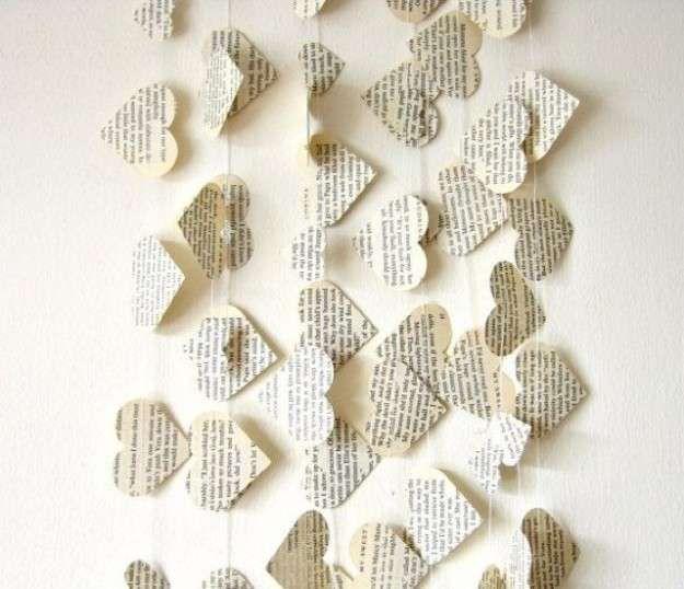 Idee per decorare la casa per un matrimonio - Decorazioni in carta fai da te  Corinne ...