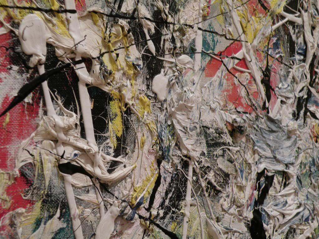 Close Up Of A Jackson Pollock Painting Abstractart