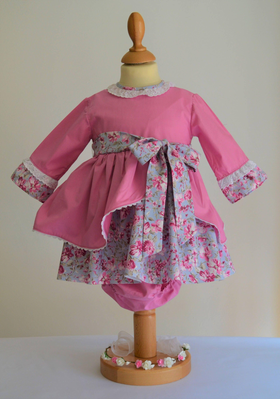 Vestido niña algodón estampado de flores. Vestido flores. Vestido ...