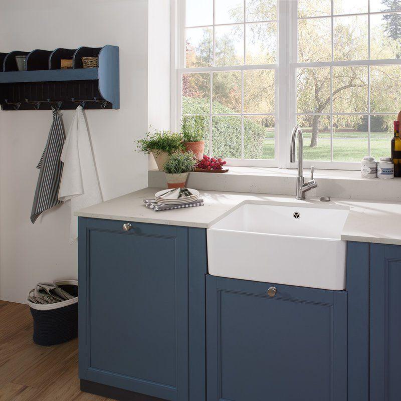 Farmhouse 60cm X 50cm Single Bowl Kitchen Sink Single Bowl
