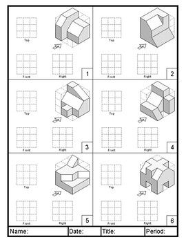 Orthographic Projection Practice Two in 2020