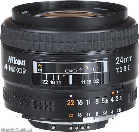 Nikon 24mm F 2 8 Af D Nikon Digital Camera Nikon Nikon Lens