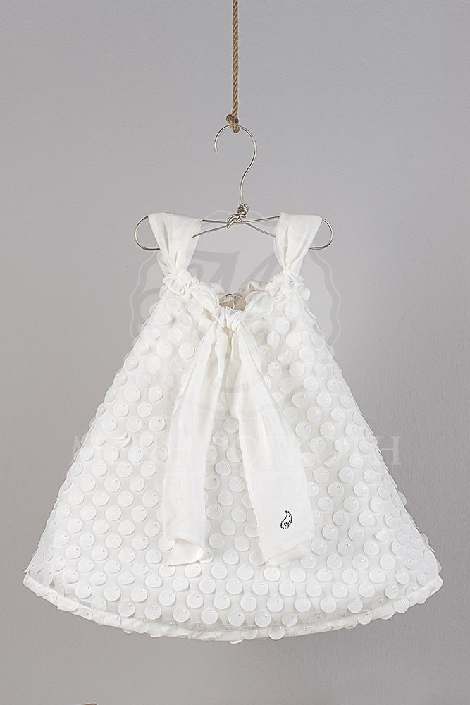 aea8284e647 Βαπτιστικά ρούχα για κορίτσι της Angel Wings φόρεμα πουά | βαφτισια ...