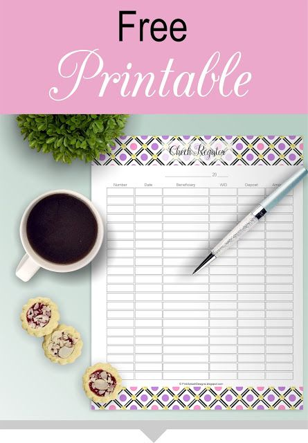Free Printable Check Register Download It! Free Printables - printable check register