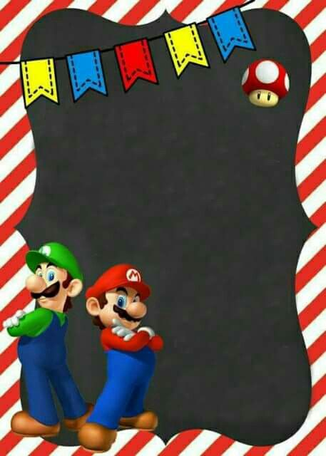Cumple Diego Y Mariely Invitaciones De Mario Bros Cumple