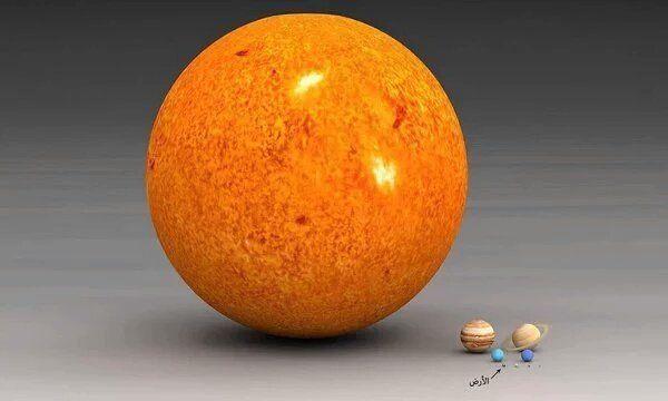 حجم الشمس مهول بالنسبة للارض وباقى كواكب المجموعة الشمسية لكنها تعتبر حبة رمل بالنسبة لبعض النجوم فى مجرتنا Scale Of The Universe Solar System Milky Way Galaxy