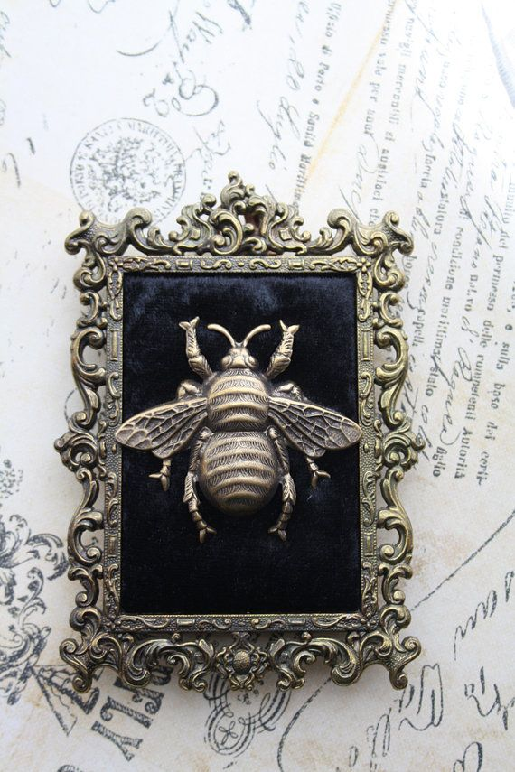 Bee Frame Gothic Victorian Ornate Wall Frame Antique Bronze Gold