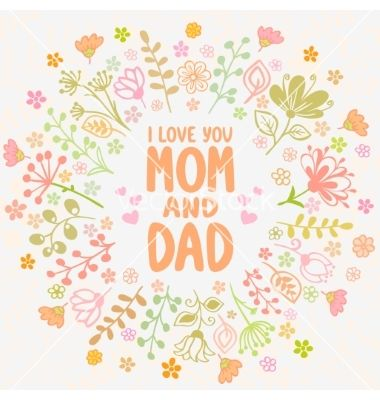 Card Mom And Dad Vector Art Download Love Vectors 2200533 I Love My Dad Love You Mom Mom And Dad