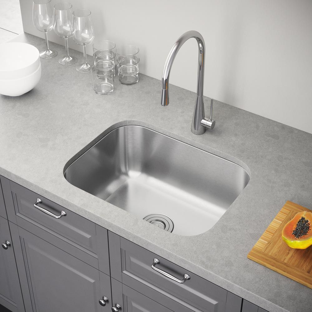 """Exclusive Heritage 23"""" X 18"""" Single Bowl Undermount Stainless Adorable Stainless Kitchen Sinks Review"""